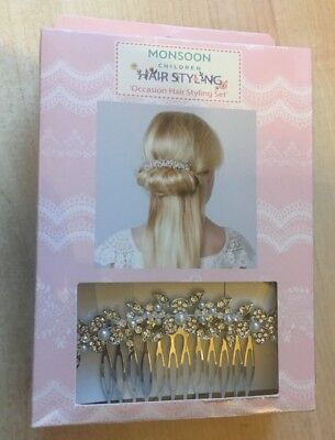 BNIP Girls School Mates Brand Navy Blue Stretch Lace Head Band Hair Tie