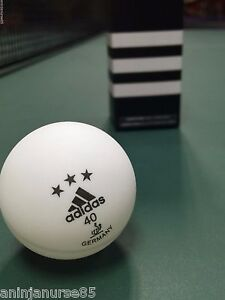 regla habilitar Reducción  Adidas 3 Star ITTF Approved Table Tennis Balls Table Tennis Game Room Games  Toys & Games Table Tennis