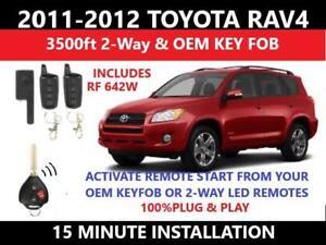 plug \u0026 play 2 way remote start toyota rav4 g key complete kit 2011