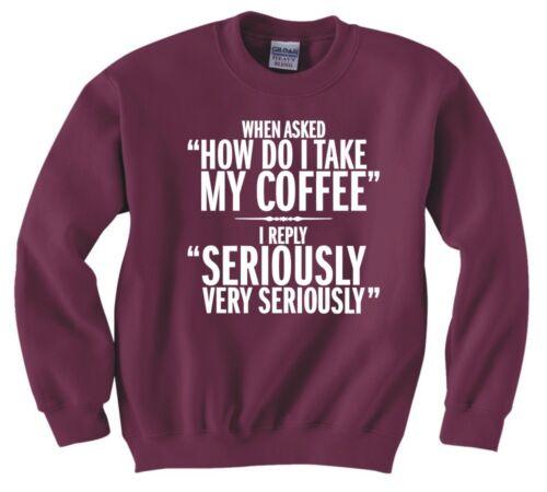 """Funny /""""grave buveurs de café/"""" nouveau sweat"""
