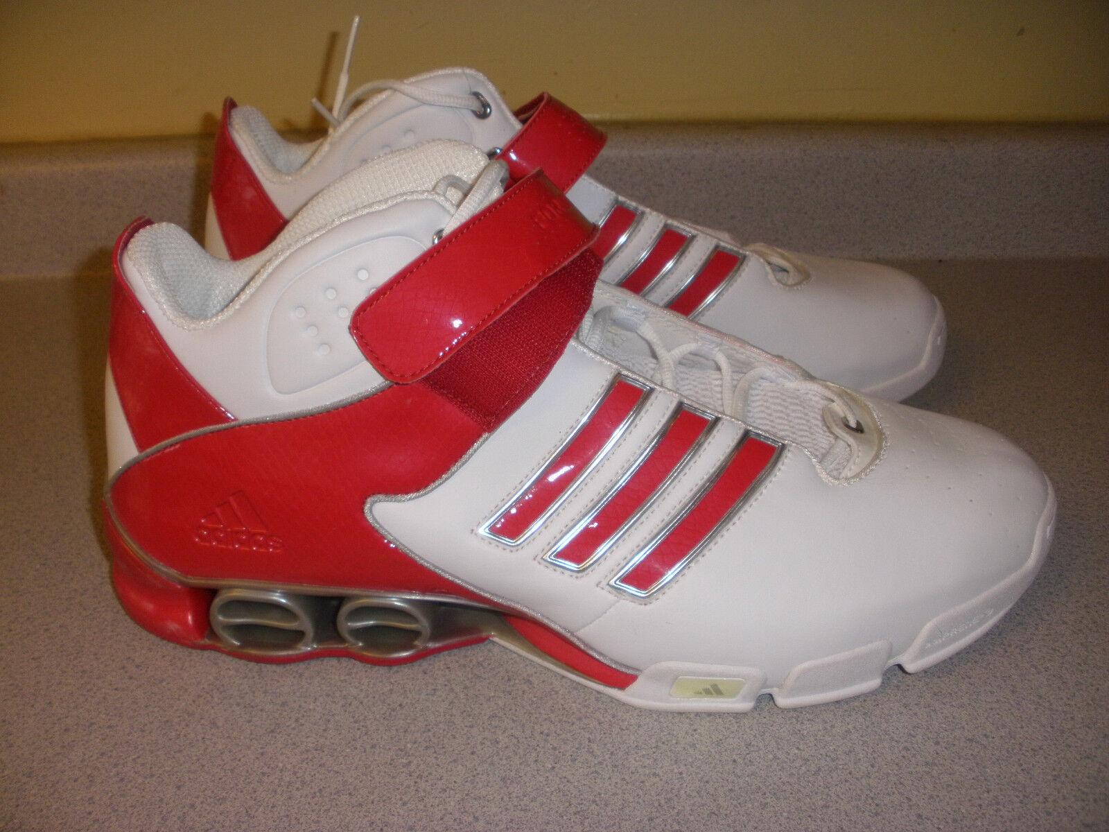 SAMPLE 809289 Men's Adidas Freemont Mid Originals Size 16 RED WHITE