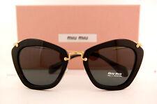 Brand New Miu Miu Sunglasses MU 10N 10NS 1AB1A1 BLACK/GREY Women 100% Authentic
