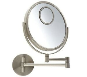 Jerdon Jp7510n 8 Quot Makeup Wall Mount Mirror Nickel 10x