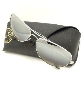 1ab2471b196 Ray Ban 3562 003 5J Silver Mirror Polarized 59mm Sunglasses New ...