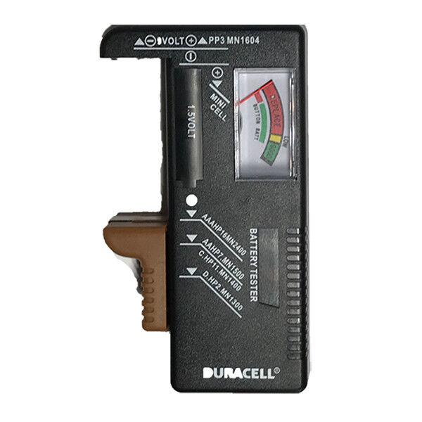 Battery Tester Meter Universal Duracell AA AAA C D 9v button batteries