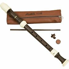 Aulos Aulos Classroom Recorder Alto 3 Piece English Woodgrain Finish A709Bw