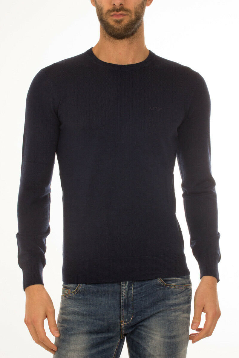 Armani Jeans AJ Sweater REGULAR FIT Herren Blau 8N6M916M12Z 545 Gr. L ANGEBOT