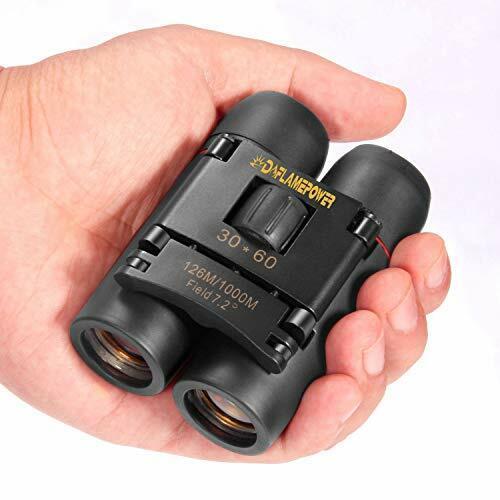 DFlamepower mini 30x60 Compact Folding Binoculars Telescope with Waterproof for