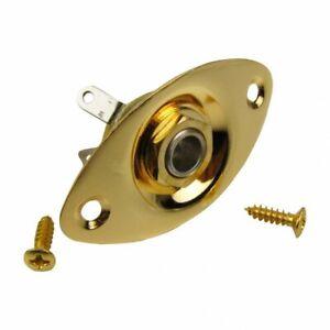 Input-output-Jack-et-plaque-ovale-or-pour-guitare-electrique-telecaster-Les-Paul