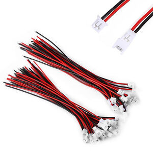 20-Pairs-Micro-JST-1-25-2-Pin-Male-Female-Connector-Plug-10cm-100mm-Wires-Cables