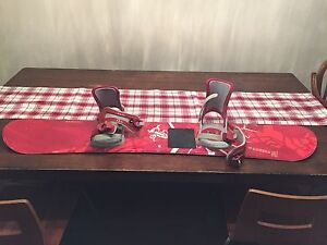 Salomon Fierce Snowboard 134 Red With LQ1000 Bindings Used