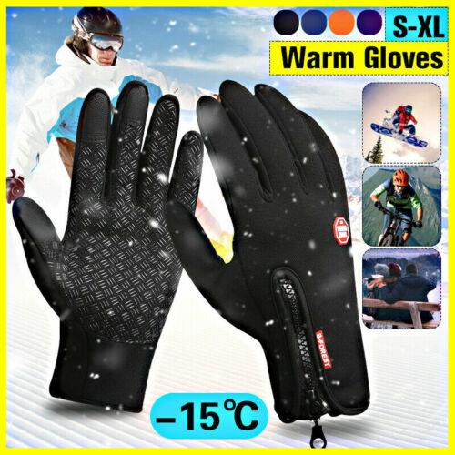 Men Women Winter Waterproof Insulated Gloves Outdoor Warm Thermal Sport Mittens