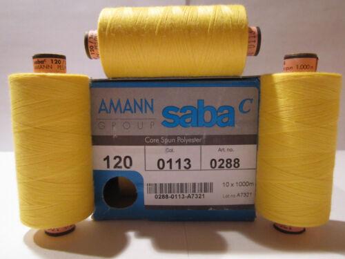 0,40 €//100m 3 x 1000 m AMANN SABA Nähgarne Stärke 120 Polyester 113 Auswahl