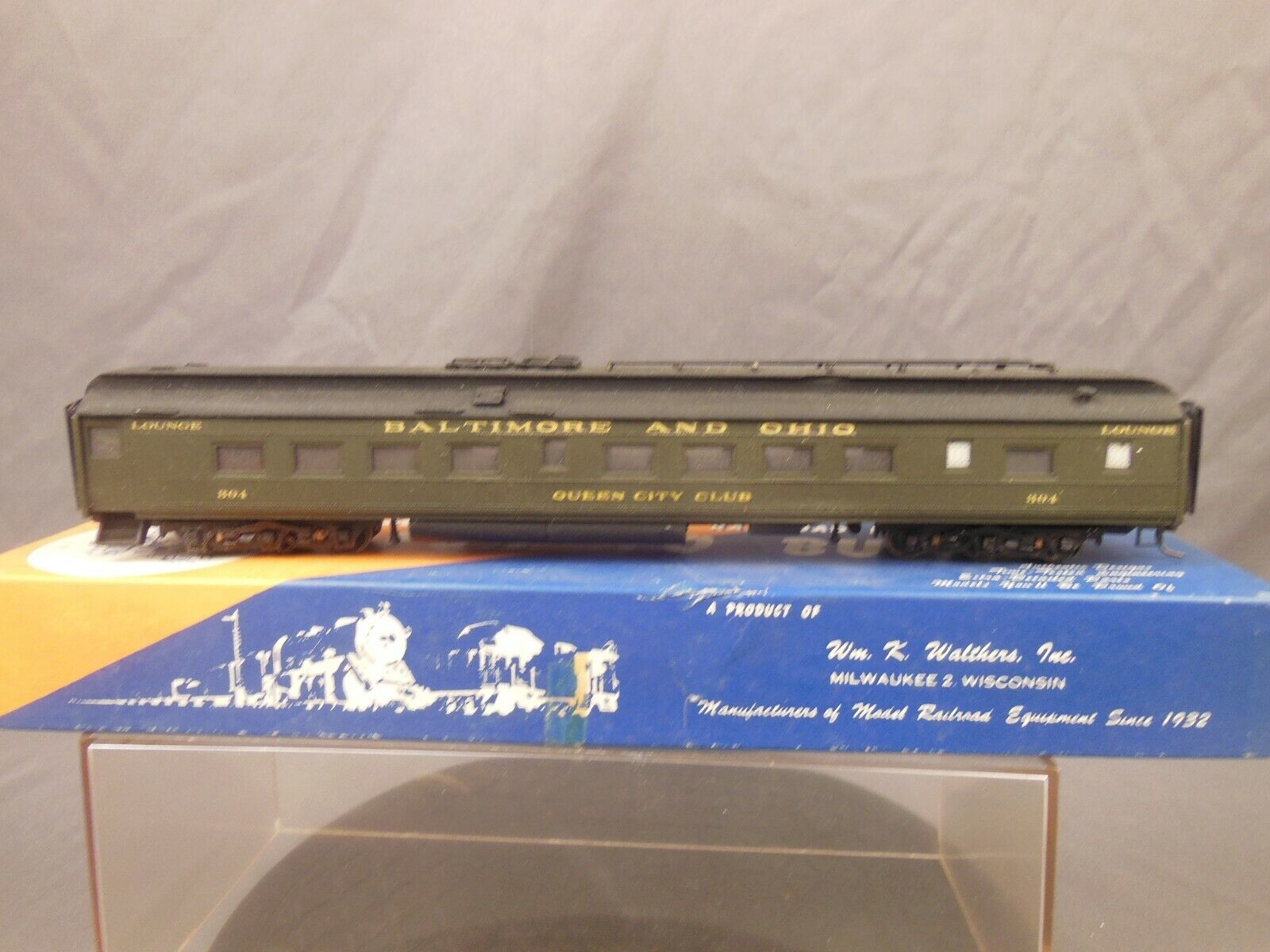 HO SCALE WALTHERS BALTIMORE & OHIO QUEEN CITY CLUB LOUNGE CRAFTSMAN KIT BUILT