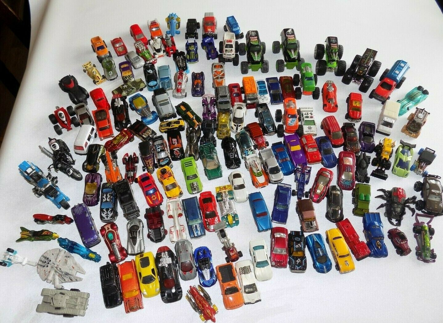 Hot Wheels Cars Lot of 135 Toy Cars