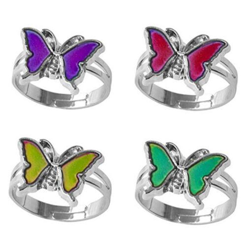 Stimmungsring Farbwechsel durch Temperatur einstellbar Schmetterling OCRASK
