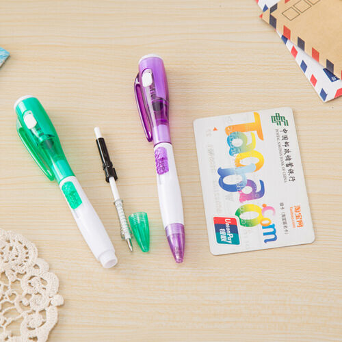 Cute Novelty Ballpoint Pen stationery LED lights Penna a sfera Scuola SupplyTW
