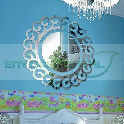 Vintage Sun Shine Top Acrylic Plastic Mirrors Wall Art ROOM Decal Decor Stickers