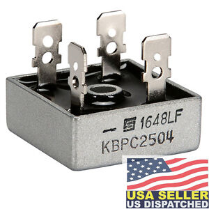 SOLID-STATE-KBPC2504-Bridge-Rectifier-Diode-Single-400-V-25A-Module-25-A