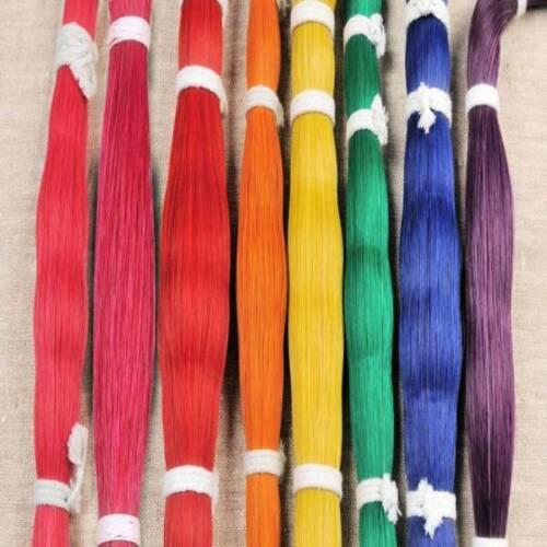 1 oz Dyed HORSE HAIR BUNDLE Crafts  Regalia Leather craft Rainbow Color Choice