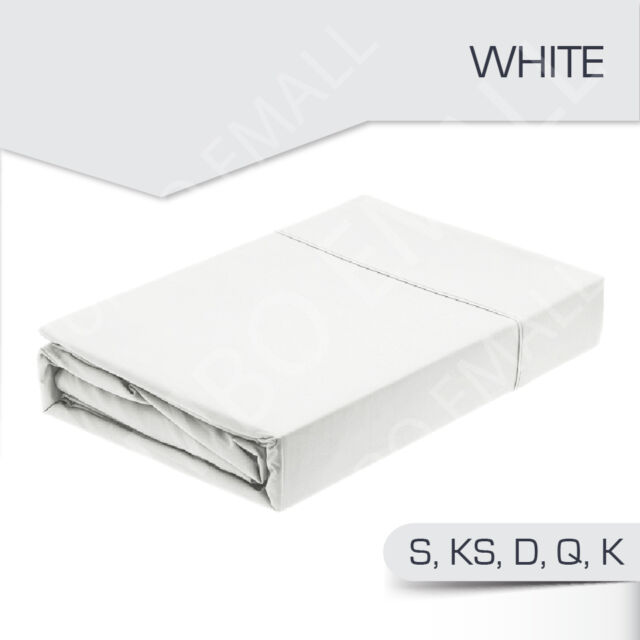 1000TC Egyptian Cotton 3 Piece Bed Fitted Sheet+Pillowcase Set(No Flat Sheet)
