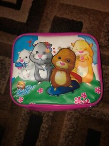 Vintage ,ZHU ZHU PETS Pink Soft  LUNCH BOX - Excellent Condition- Ships Free