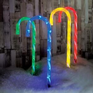 CANDY-Cane-Gioco-Percorso-Luci-Da-Giardino-Natale-75cm-Plug-In-LED-DI-NATALE
