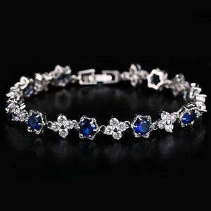 Charming-White-Gold-Plated-Cubic-Zircon-Crystal-Bracelet-Bangle-Wedding-Jewelry