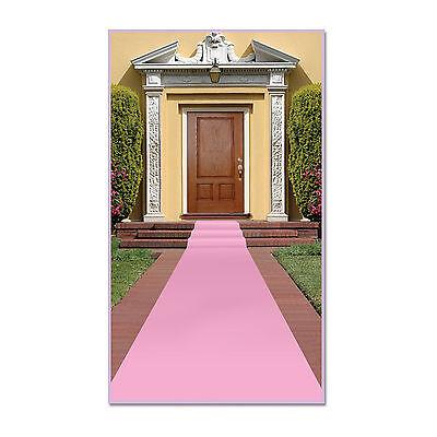 Pink Carpet Runner Decoration - 15ft x 2ft - Wedding/Princess Party Decoration