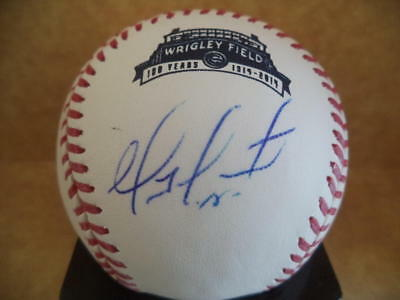Sports Mem, Cards & Fan Shop Geovany Soto Signed Autographed Wrigley Field Logo Baseball W/coa