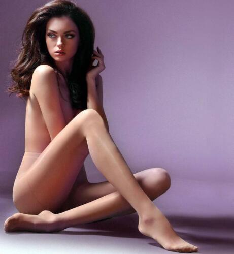 Womens High Quality Sheer Waist Stretch Tights Silky Semi-Satin 20 Den Denier