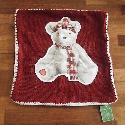 POTTERY BARN TEDDY BEAR COZY PILLOW COVER NEW 20 X 20