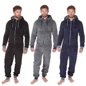 onezee mens fleece snuggle hooded onesie ebay. Black Bedroom Furniture Sets. Home Design Ideas
