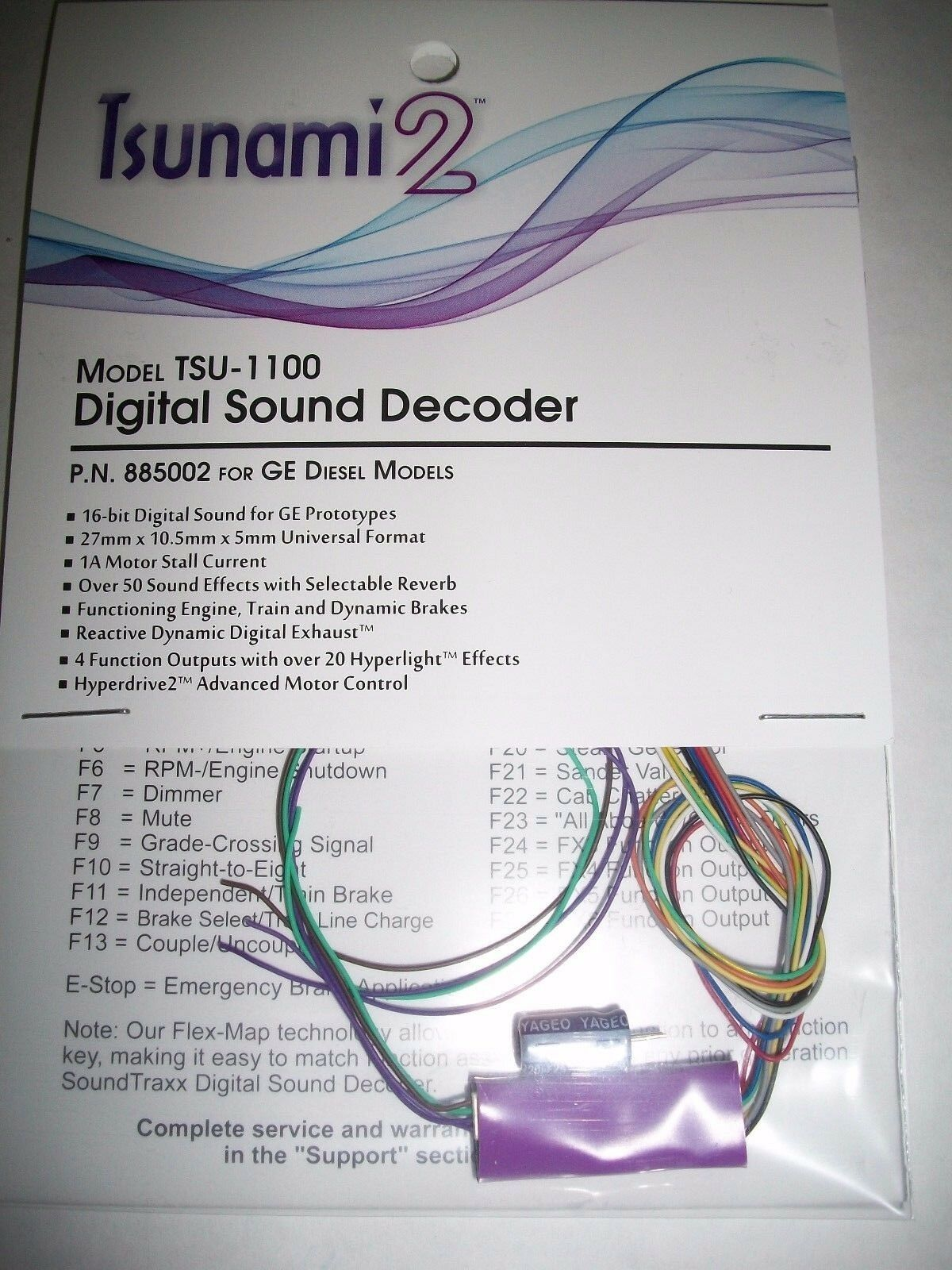 Soundtraxx Tsunami 2 GE Diesels TSU-1100 Ver 1.2  885002 BobTheTrainGuy