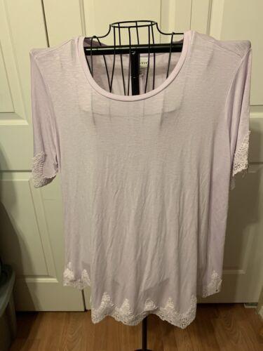 Women's Tops Ava & Viv Top Shirt Blouse Pastel Pur