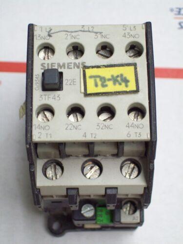 SIEMENS MOTOR STARTER CONTACTOR 3TF4322-0A