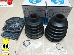 Image Is Loading Front Inner Amp Outer Cv Axle Boot Kit