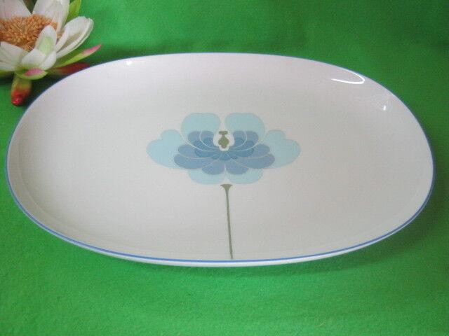 Plaque 33 Cm Century bleu fleur de ROSENTHAL