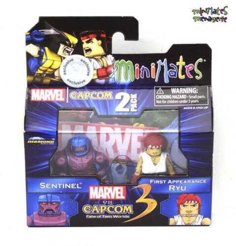 Marvel vs Capcom 3 Minimates TRU Toys R Us Wave 2 Sentinel /& First Appear Ryu