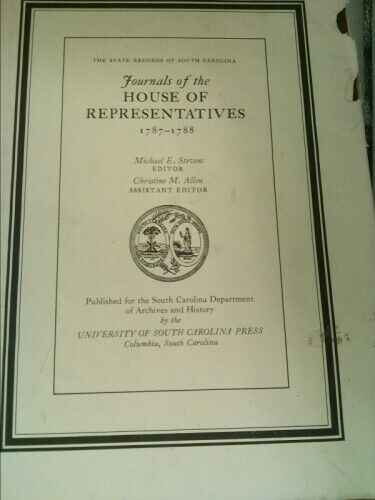 The Journals of the House of Representatives, 1787-1788  (1st Ed)