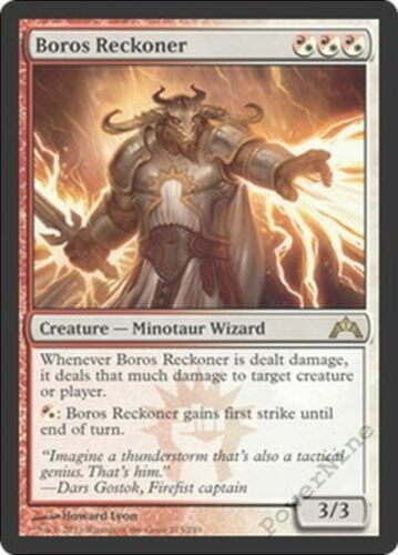 1 PLAYED Boros Reckoner Gold Gatecrash Mtg Magic Rare 1x x1