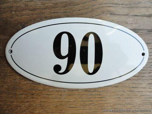 ANTIQUE STYLE ENAMEL DOOR NUMBER 90 HOUSE NUMBER DOOR SIGN PLAQUE
