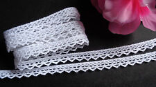 3/8 inch wide Cotton Crochet Lace Trim white selling by the yard