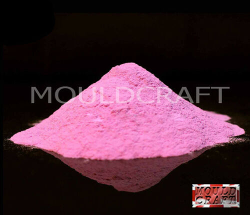 Mouldcraft Glow in the dark pigment powder 100g PINK use our casting resin