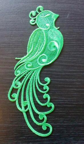 Patch Ricamo verde pavone pizzo Applique Abito Danza Irlandese Costume