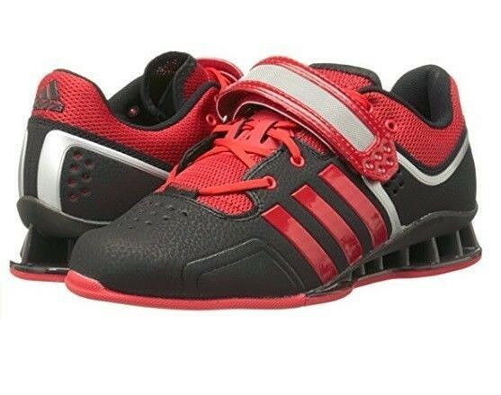 Adidas Performance AdiPower Weightlift Black Red Weightlifting Gym Trainers 14 M