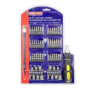 58-Piece-Screwdriver-Bit-Socket-Flat-Torx-Phillips-Hex-Adaptor-Ratchet-Driver