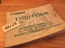 Yamaha TY50 TY50M TY 50 revue technique moto workshop service Manuel atelier
