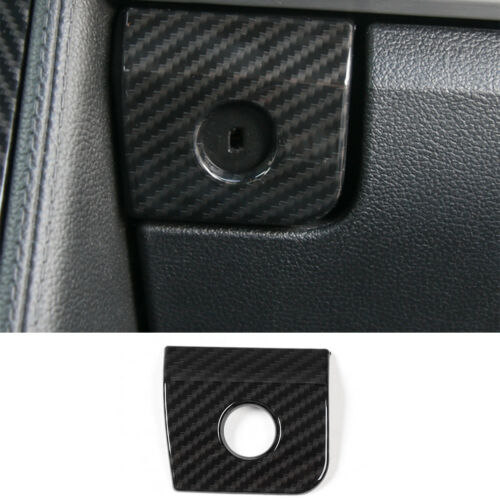 Carbon Fiber Car Armrest Storage Box Switch Cover Trim For Ford mustang 2015-17