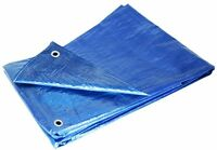 Grizzly Tarps Gtrp810 8 X 10-feet Blue Multi-purpose 6-mil Waterproof Poly Tarp